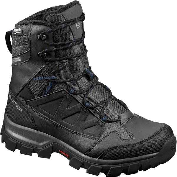 サロモン メンズ ブーツ&レインブーツ シューズ Salomon Men's Chalten 200g Waterproof Winter Boots Black/Black