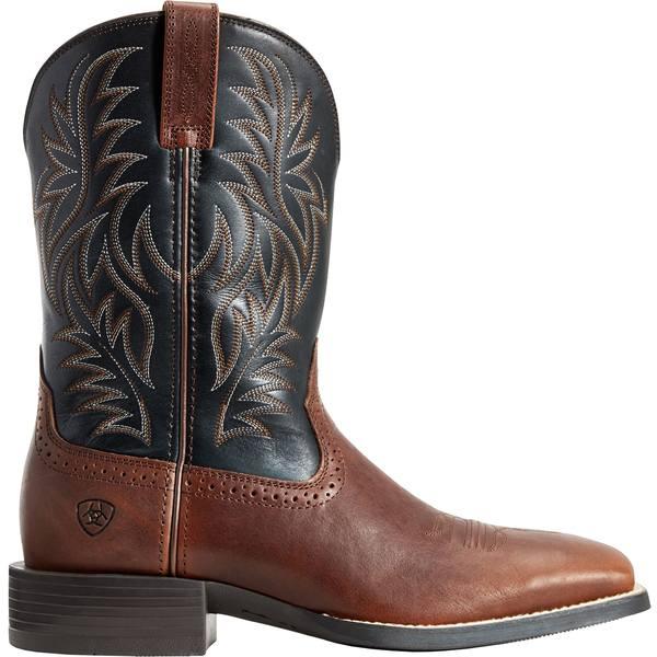 アリアト メンズ ブーツ&レインブーツ シューズ Ariat Men's Sport Rider Western Boots Cognac