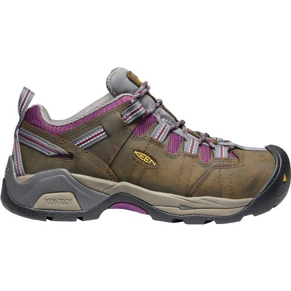 キーン レディース ブーツ&レインブーツ シューズ KEEN Women's Detroit XT Waterproof Steel Toe Work Shoes CascadeBrown
