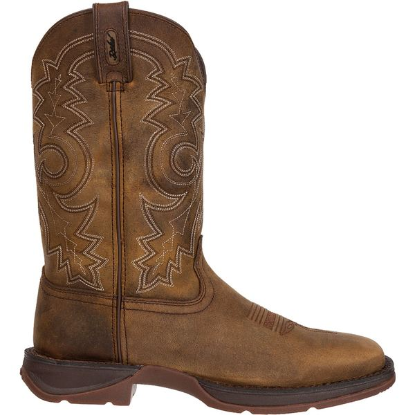 デゥランゴ メンズ ブーツ&レインブーツ シューズ Durango Men's Rebel Pull-On Stitched Western Work Boots Brown