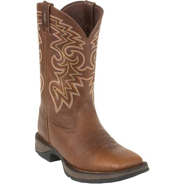 デゥランゴ メンズ ブーツ&レインブーツ シューズ Durango Men's Rebel Pull-On Stitched Western Work Boots DarkChocolate