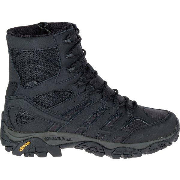 メレル メンズ ブーツ&レインブーツ シューズ Merrell Men's Moab 2 8'' Waterproof Tactical Boots Black