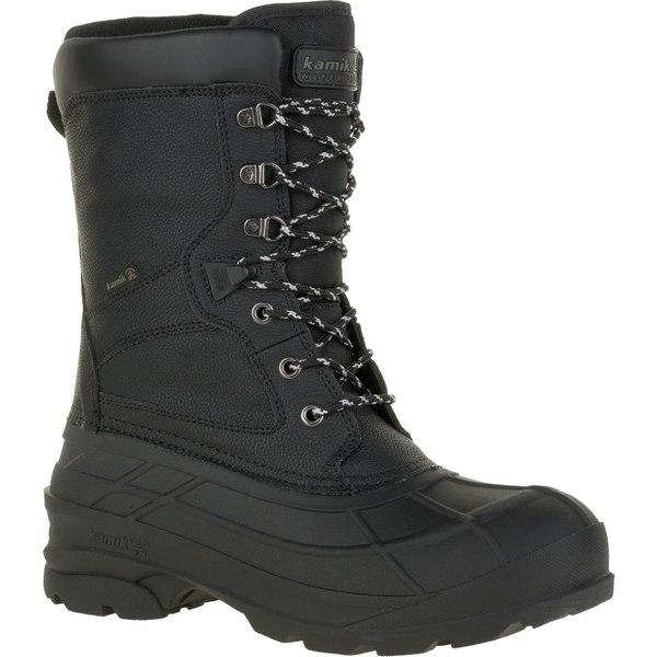 カミック メンズ ブーツ&レインブーツ シューズ Kamik Men's NationPro 200g Waterproof Winter Boots Black
