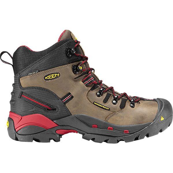 キーン メンズ ブーツ&レインブーツ シューズ KEEN Men's Pittsburgh 6'' Waterproof Steel Toe Work Boots Bison