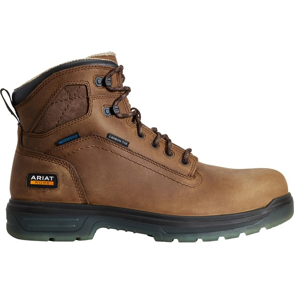 アリアト メンズ ブーツ&レインブーツ シューズ Ariat Men's Turbo 6'' CSA Waterproof Carbon Toe Work Boots Bark