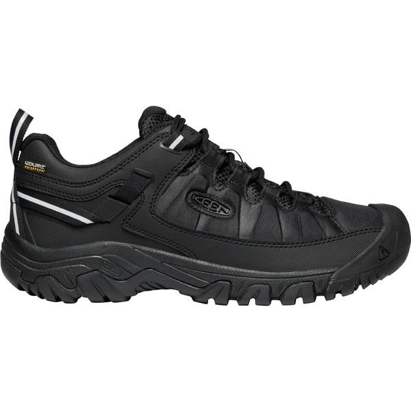キーン メンズ ブーツ&レインブーツ シューズ KEEN Men's Targhee EXP Waterproof Hiking Shoes Black/Black