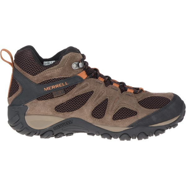 メレル メンズ ブーツ&レインブーツ シューズ Merrell Men's Yokota 2 Mid Waterproof Hiking Boots Bracken