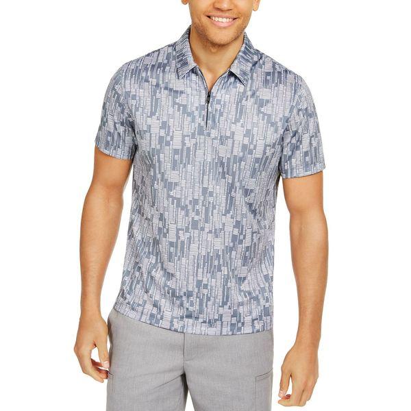 大量入荷 アルファニ メンズ ポロシャツ トップス Men&39;s Classic-Fit Performance Stretch Abstract Dash-Print Polo Shirt, Created for Macy&39;s New Grey, 恵庭市 3bc3e9cf