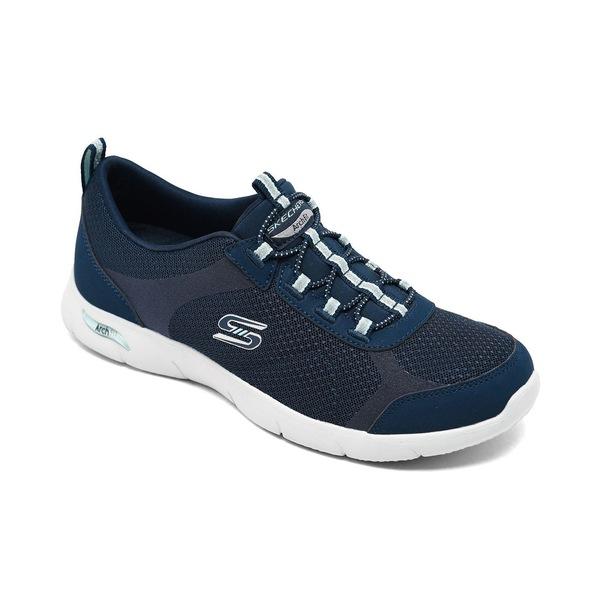 超人気 スケッチャーズ レディース スニーカー シューズ Women&39;s Arch Fit Refine - Her Best Arch Support Slip-On Wide Width Walking Sneakers from Finish Line Navy/Aqua, 日本最大の 4f590ba9
