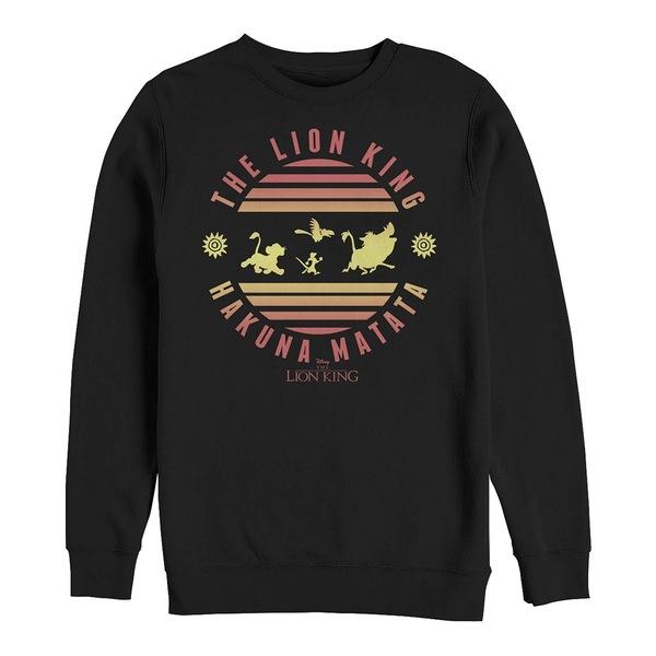 【新品、本物、当店在庫だから安心】 ディズニー メンズ パーカー・スウェットシャツ アウター Men&39;s Lion King Hakuna Matata, Crewneck Fleece Black, ブランドショップ ラッシュモール 0b841ef1