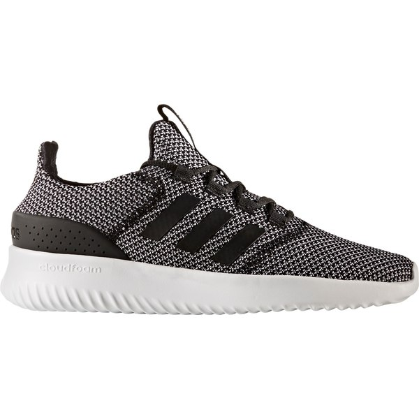 アディダス メンズ スニーカー シューズ adidas Men's Cloudfoam Ultimate Shoes Black/White/Grey