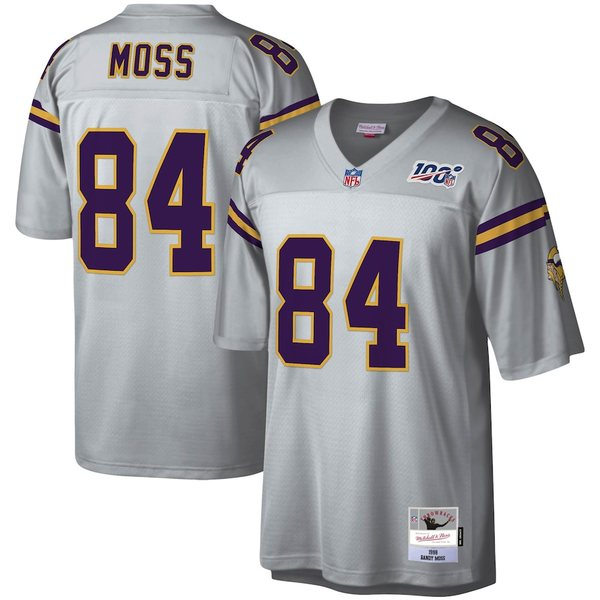 ミッチェル&ネス メンズ シャツ トップス Randy Moss Minnesota Vikings Mitchell & Ness NFL 100 Retired Player Legacy Jersey Platinum
