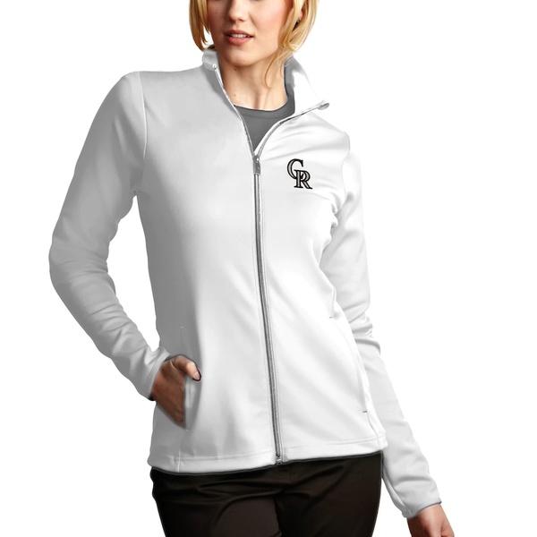 アンティグア レディース ジャケット&ブルゾン アウター Colorado Rockies Antigua Women's Leader Full-Zip Jacket White
