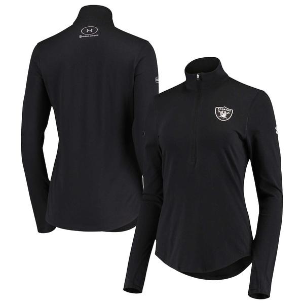 アンダーアーマー レディース ジャケット&ブルゾン アウター Las Vegas Raiders Under Armour Women's Combine Authentic Favorites Half-Zip Jacket Black