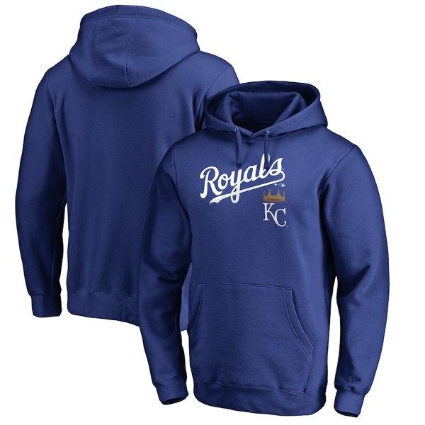 ファナティクス メンズ パーカー・スウェットシャツ アウター Kansas City Royals Fanatics Branded Big & Tall Team Lockup Pullover Hoodie Royal