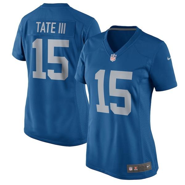 ナイキ レディース シャツ トップス Golden Tate Detroit Lions Nike Women's 2017 Throwback Game Jersey Blue