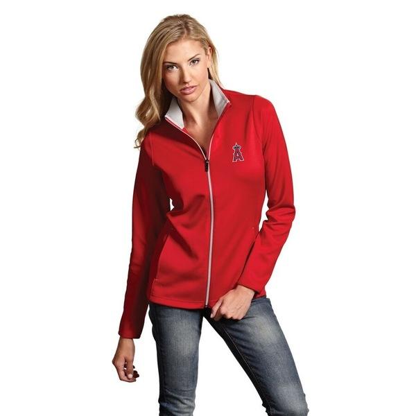 アンティグア レディース ジャケット&ブルゾン アウター Los Angeles Angels Antigua Women's Leader Full-Zip Jacket Red