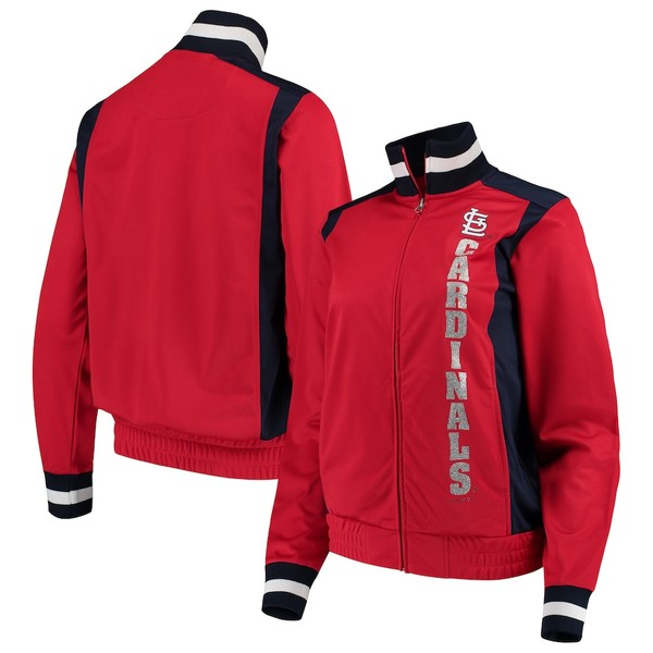 カールバンクス レディース ジャケット&ブルゾン アウター St. Louis Cardinals G-III 4Her by Carl Banks Women's On Deck Full-Zip Track Jacket Red