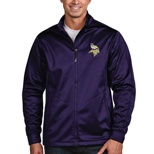 アンティグア メンズ ジャケット&ブルゾン アウター Minnesota Vikings Antigua Full-Zip Golf Jacket Purple