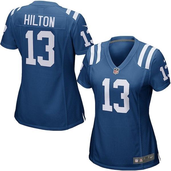 ナイキ レディース シャツ トップス T.Y. Hilton Indianapolis Colts Nike Women's Game Jersey Royal