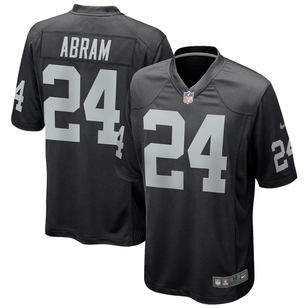 ナイキ メンズ シャツ トップス Johnathan Abram Las Vegas Raiders Nike Game Jersey Black