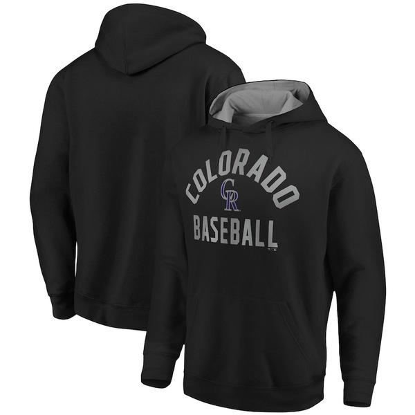 ファナティクス メンズ パーカー・スウェットシャツ アウター Colorado Rockies Fanatics Branded Team Pride Pullover Hoodie Black/Gray