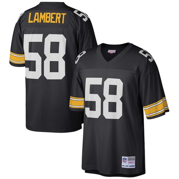 ミッチェル&ネス メンズ シャツ トップス Jack Lambert Pittsburgh Steelers Mitchell & Ness Retired Player Legacy Replica Jersey Black