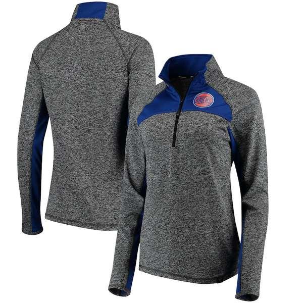 ファナティクス レディース ジャケット&ブルゾン アウター New York Knicks Fanatics Branded Women's Static Quarter-Zip Pullover Jacket Heathered Gray