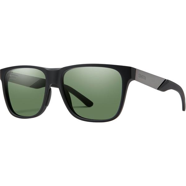 スミス メンズ サングラス・アイウェア アクセサリー Lowdown Steel Chromapop Polarized Sunglasses Matte Black Ruthenium Frame/Gray Green Polarized
