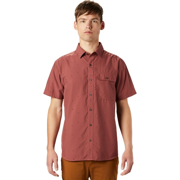 マウンテンハードウェア メンズ シャツ トップス Greenstone Short-Sleeve Shirt - Men's Washed Rock Scatter Dot Print