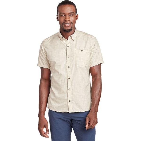 キュール メンズ シャツ トップス Krossfire Short-Sleeve Button-Up Shirt - Men's Light Khaki
