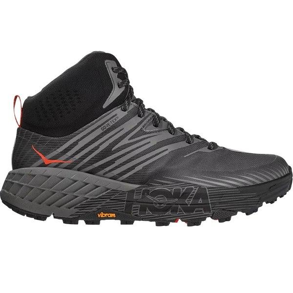 ホッカオネオネ メンズ ランニング スポーツ Speedgoat Mid 2 GTX Trail Run Shoe - Men's Anthracite/Dark Gull Grey