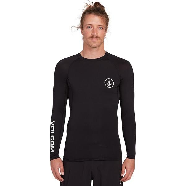 ボルコム メンズ シャツ トップス Lido Solid Long-Sleeve Shirt - Men's Black