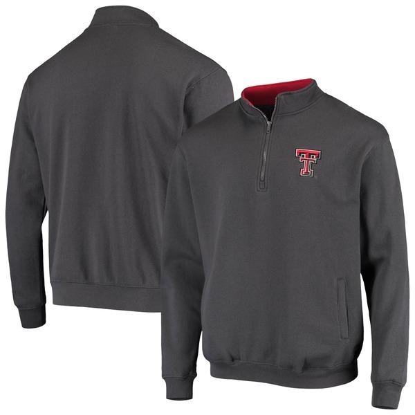 コロシアム メンズ ジャケット&ブルゾン アウター Texas Tech Red Raiders Colosseum Tortugas Logo QuarterZip Jacket Heathered Gray