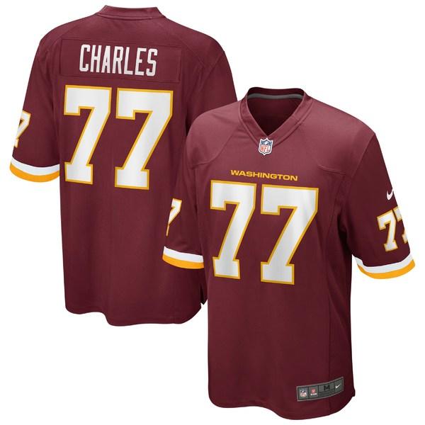 ナイキ メンズ ユニフォーム トップス Saahdiq Charles Washington Football Team Nike Game Player Jersey Burgundy