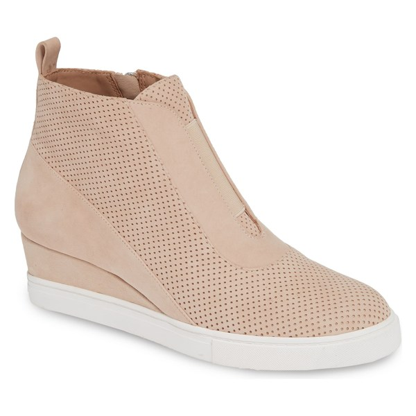 リネアパウロ レディース スニーカー シューズ Linea Paolo Anna Wedge Sneaker (Women) Light Pink Perf Suede