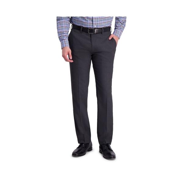 人気の製品 ルイス ラファエル メンズ ボトムス カジュアルパンツ Dark Gray 全商品無料サイズ交換 Comfort Sharkskin Fit Slim Dress Stretch Pant 100%品質保証 Front Flat