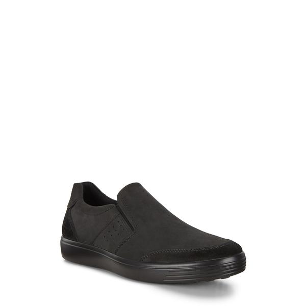 エコー メンズ スニーカー シューズ Soft Classic Slip-On Sneaker Black