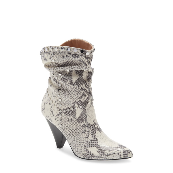 BCBジェネレーション レディース ブーツ&レインブーツ シューズ Cebina Studded Bootie Ivory Snake Leather