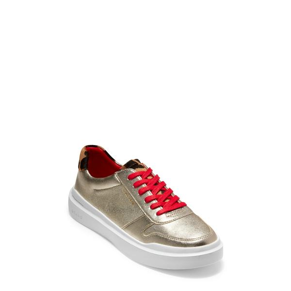 コールハーン レディース スニーカー シューズ GrandPro Rally Sneaker Light Gold/ White Leather