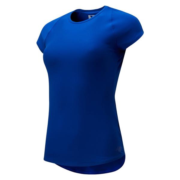 ニューバランス レディース シャツ トップス Transform Perfect T-Shirt Marine Blue