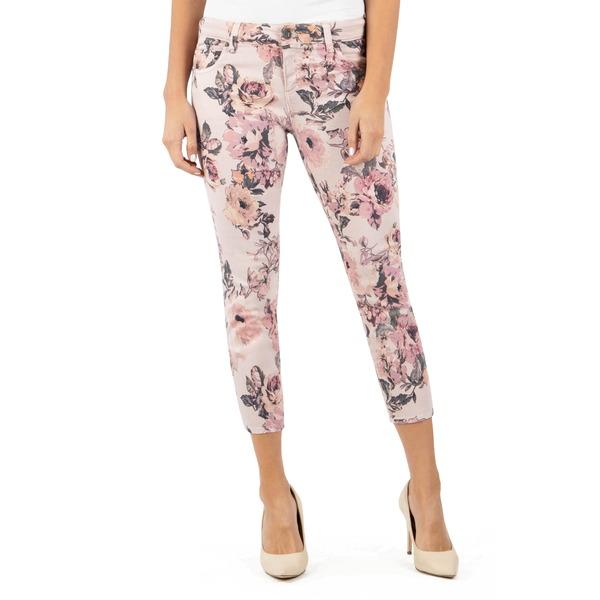 カットフロムザクロス レディース デニムパンツ ボトムス Connie Floral Print Crop Skinny Jeans Rose