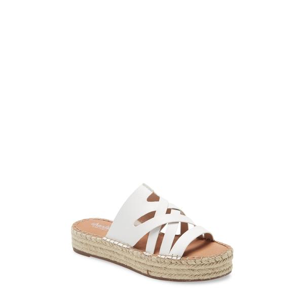 チャールズ・デイビッド レディース サンダル シューズ Challenge Espadrille Platform Sandal White
