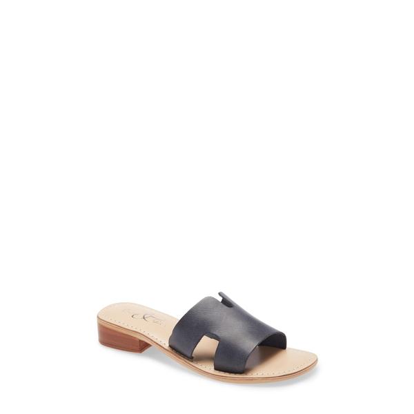 ボスアンドコー レディース サンダル シューズ Imani Slide Sandal Black Dipped Leather