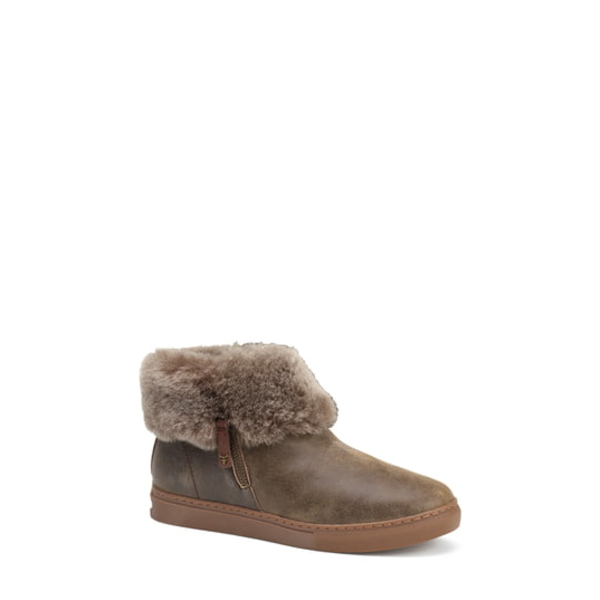 トラスク レディース スニーカー シューズ Lexi Genuine Shearling Sneaker Brown/ Brown Leather