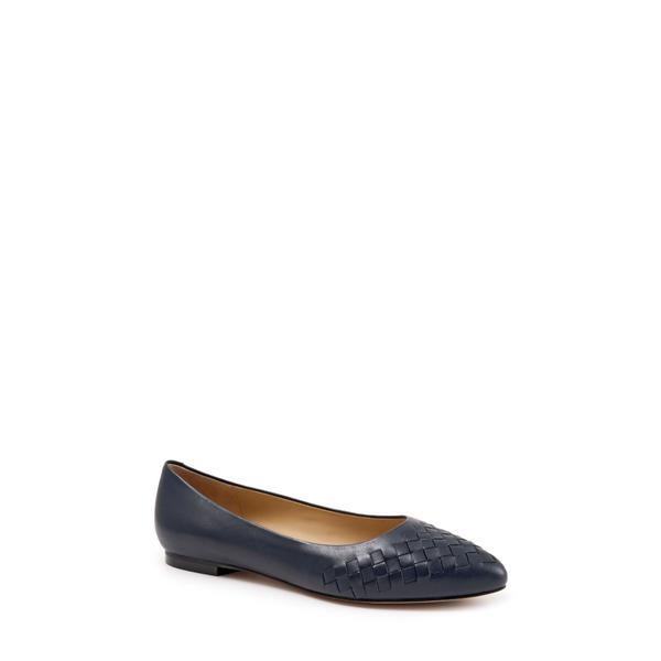 トロッターズ レディース サンダル シューズ Estee Pointed Toe Flat Navy Leather