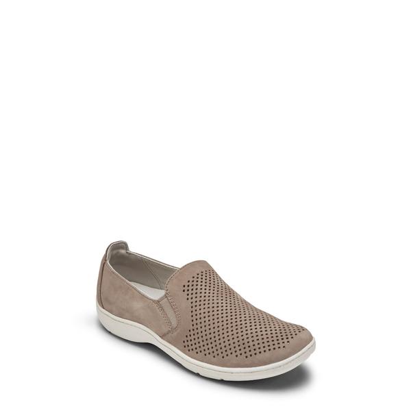 アラヴォン レディース スニーカー シューズ Lia Slip-On Sneaker Taupe Leather