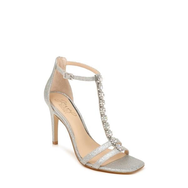 ジュウェルダグレイミシュカ レディース サンダル シューズ Farida Crystal Embellished T-Strap Sandal Silver Glitter
