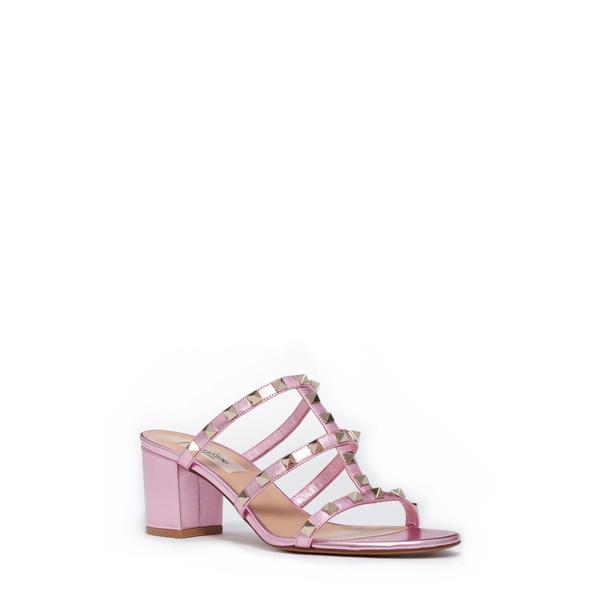 ヴァレンティノ ガラヴァーニ レディース サンダル シューズ Rockstud Triple Band Slide Sandal Metallic Pink