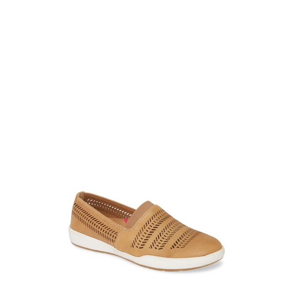 コンフォーティバ レディース スニーカー シューズ Loring Slip-On Sneaker New Caramel Leather